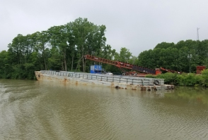 barge loading on the Champlain Canal