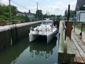 leaving a lock, Chambly Canal