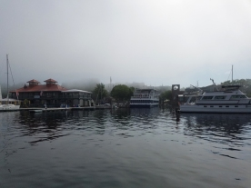 leaving Burlington on a misty day