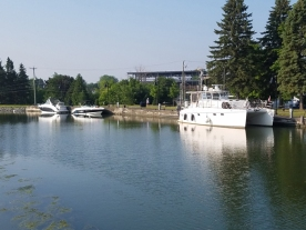 Nine Lives docked at Chambly