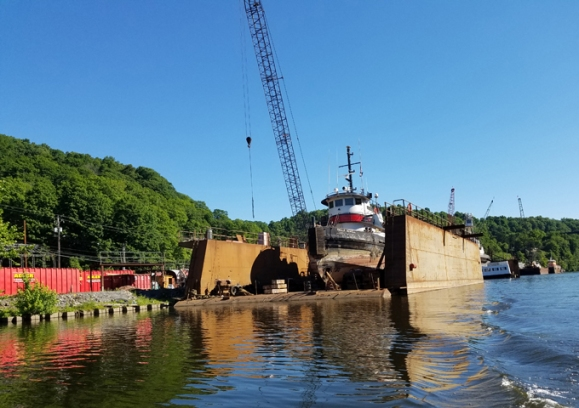 repair facility on Rondout Creek