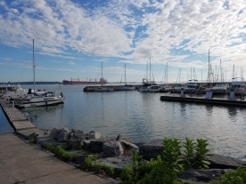 Sorel marina in early morning