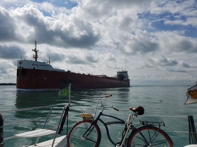 passing a freighter