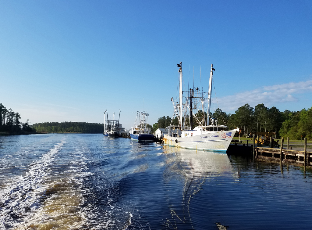 April 25 RE Mayo Hobucken shrimp boats