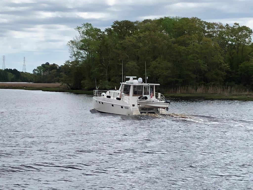 April 27 Nine Lives leaving Dismal Swamp