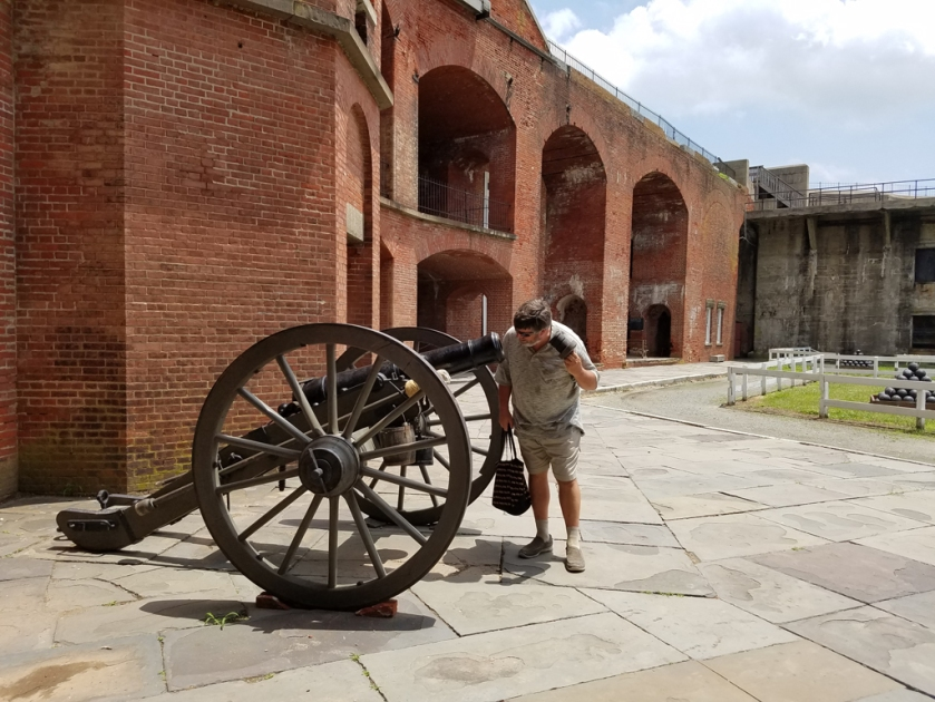 checking out the cannon