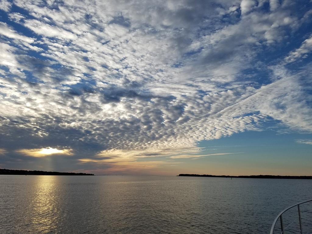 Sunrise leaving Solomons