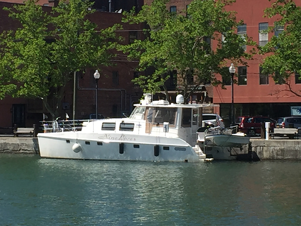 Seneca Falls Nine Lives docked