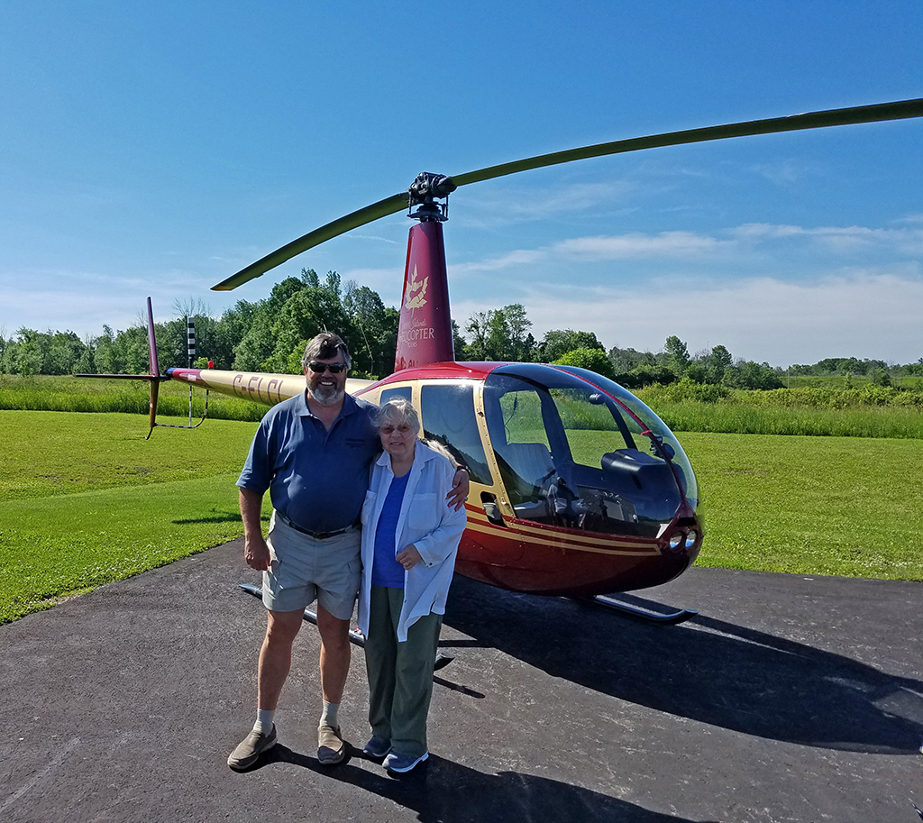 Thousand Islands by helicopter