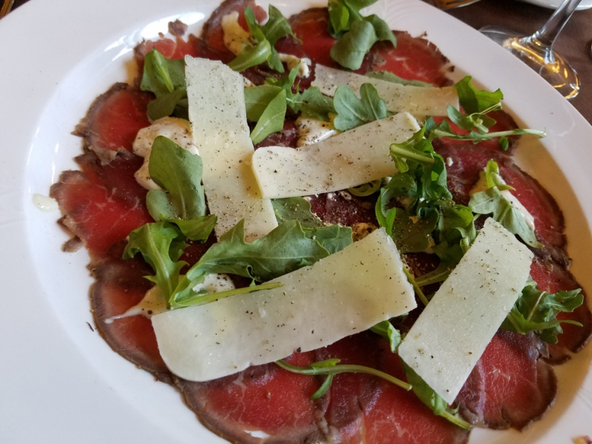 Log Cabin elk carpaccio