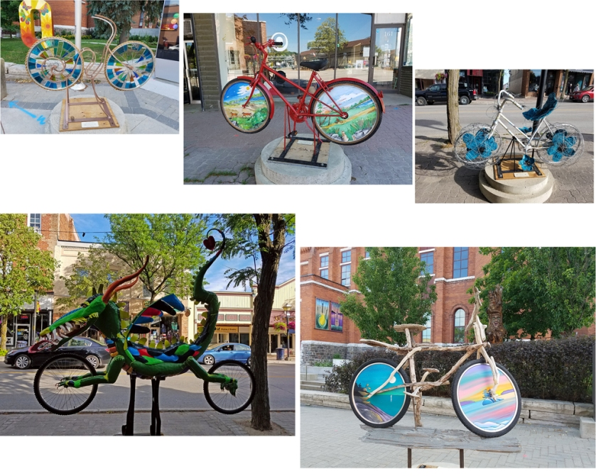 Orillia bicycles collage