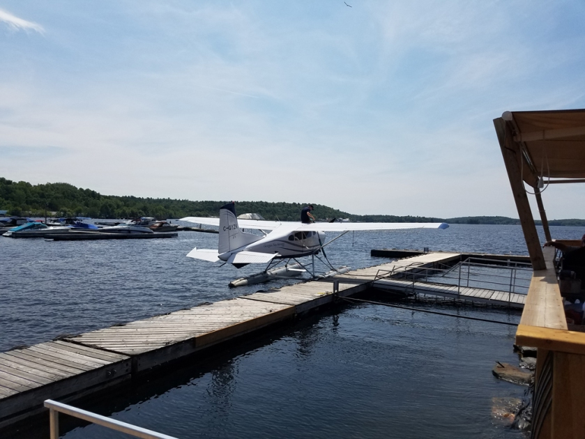 Parry Sound refuelling seaplane