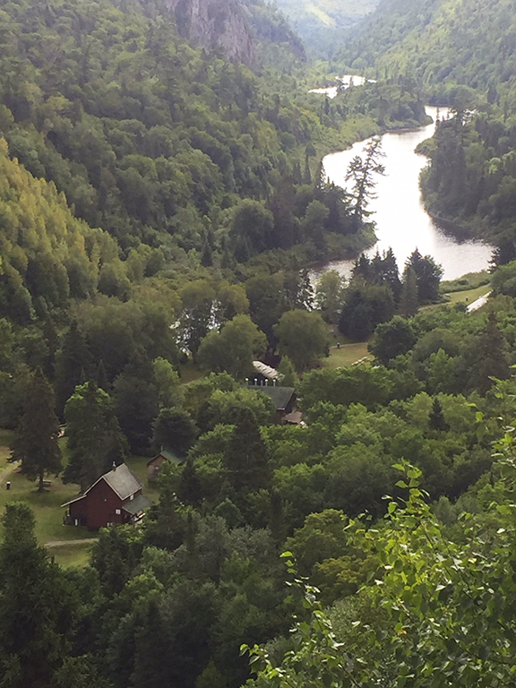 Agawa Canyon from viewpoint