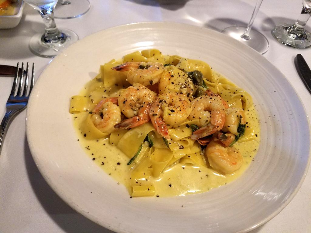 Arturos shrimp pasta